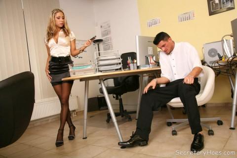secretary-nylon-stockings-amy-smith