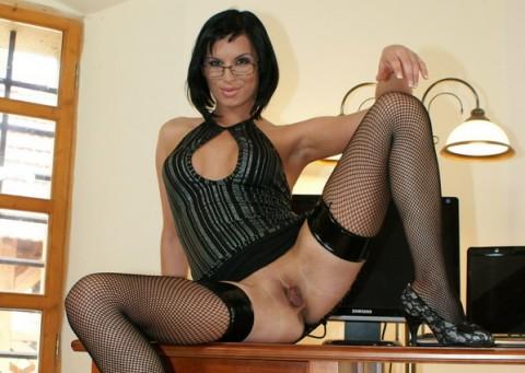 secretary-nylon-stockings-renata-black